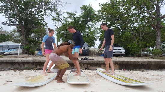 Christchurch, Barbados: Summer 2017 surf school action @pebbles beach
