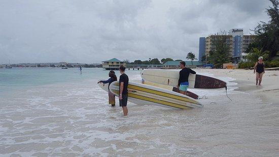 Christchurch, Barbados: Summer 2017 surf school action @pebbles beach