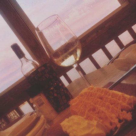 Etta's Channel Side Restaurant: Orange Cake at Sunset