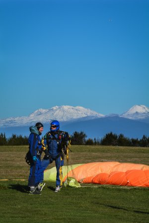 Taupo, New Zealand: Our drop zone is as close as it gets from NZ most iconic volcanoes!