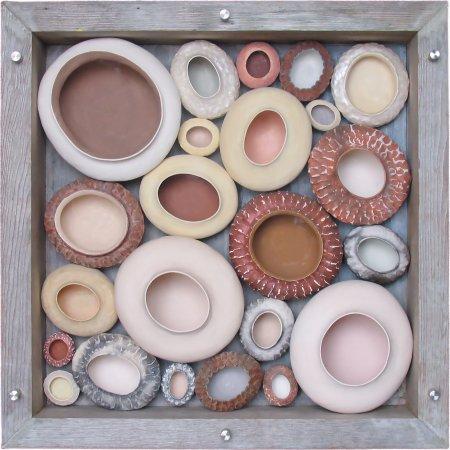 """Handwerklab Art Gallery: Shadowbox - Just Barely Not Pink (34.8""""H x 34.5""""W x 9.5""""D)"""