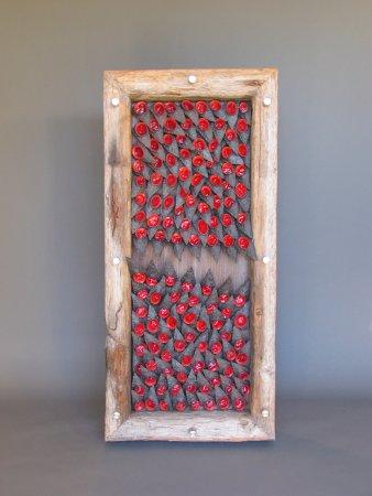 """Handwerklab Art Gallery: Shadowbox - As Red As Black Is (57""""H x 26.5""""W x 7.75""""D)"""