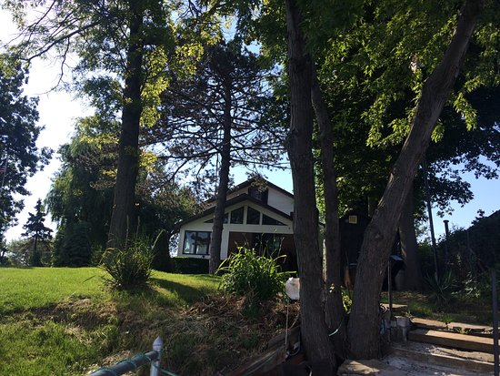 Hamburg, NY: View from the little patio on the water.