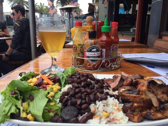 Hermosa Beach, Californien: Silvio's Brazilian BBQ Plate