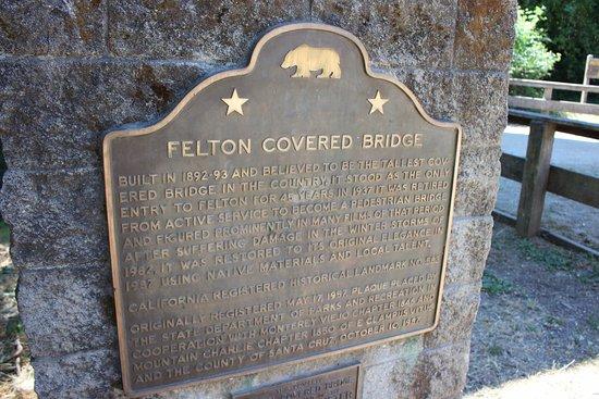 Felton, كاليفورنيا: Historical Marker