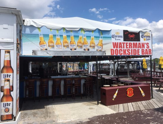 Rock Hall, MD: Waterman's outdoor bar