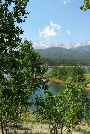Cascade, CO: A stop on the drive up the Pikes Peak Hwy - near first visitor center