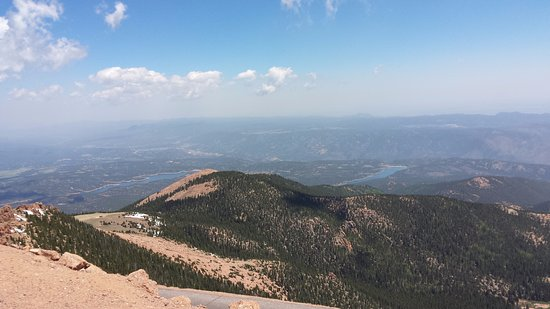 Cascade, CO: View from the top of Pikes Peak