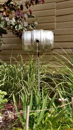 Wentzville, MO: beer keg used as a fountain