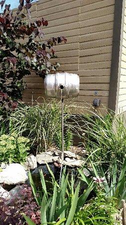 Wentzville, MO: beer keg as an outdoor fountain.