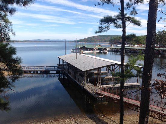 Mountain Harbor Resort & Spa: View of the lake from the cottage deck.
