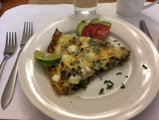 Little Falls, MN: Frittatta with greens and goat cheese