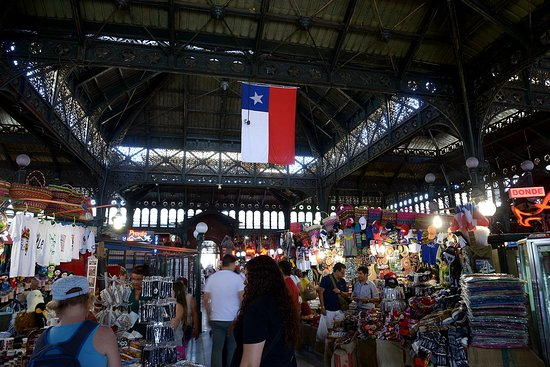 Santiago, Chile: Central Market. Great place to eat and check out.