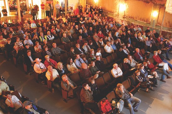 Lead, SD: We seat up to 500 in the theater and feature 50+ events (concerts, theatre, presentations) per y