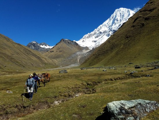 Auqui Peru Mountain Spirit: Big Willey coming down from Salkantay with horseman.