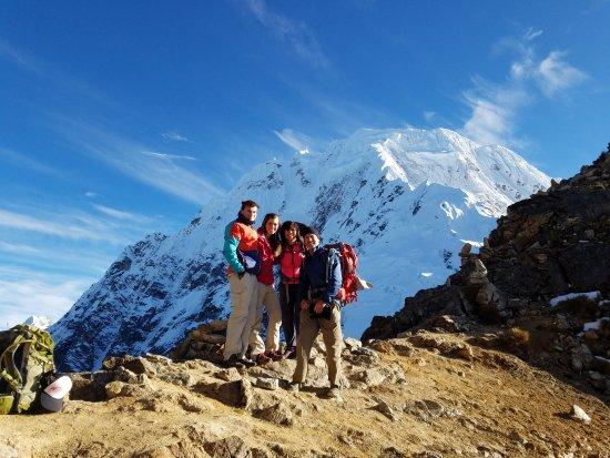 Auqui Peru Mountain Spirit: Our family on Salkantay Saddle