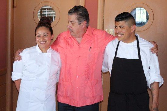 Jenner, CA: My team Carlos and Claudia