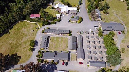 Hanmer Springs, Nowa Zelandia: Drone photo of the Camp