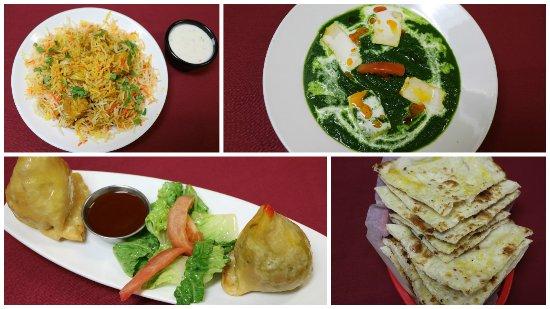 Camrose, Canada: Chicken Biryani with Raita ,Palak Paneer .Samosa ,Garlic Naan