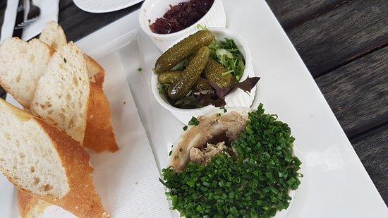 Three Little Pigs: homemade chicken pate - YUMMM!