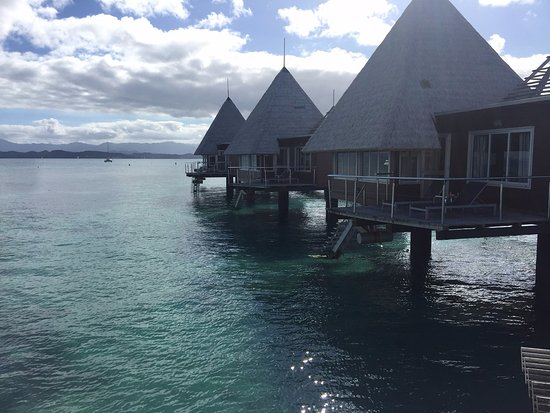 L'Escapade Island Resort: View from over water bungalow