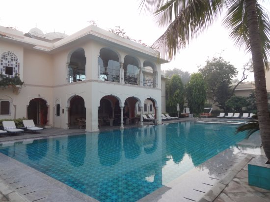 The impressive swimming pool facility picture of samode Hotels in jaipur with swimming pool
