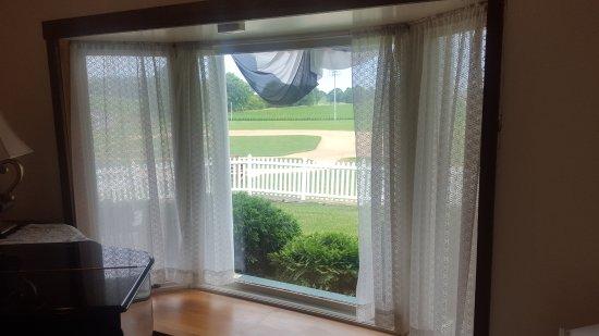 Dyersville, IA: Bay window where Shoeless Joe is first spotted