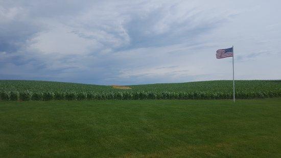 Dyersville, IA: Corn in right field