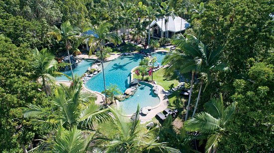 Paradise Links Resort Port Douglas: Main Lagoon Pool from above