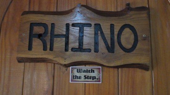 Sabie, South Africa: Rhino Room Door