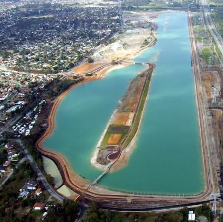 Armadale, Australia: aerial picture champion lakes jetpacks