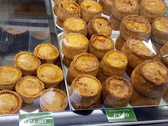 Ironbridge Gorge, UK: different types of pie