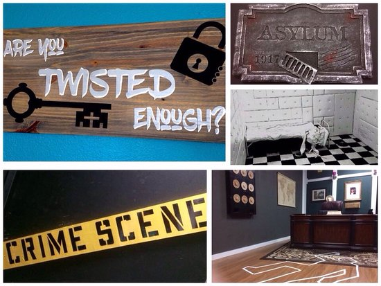 Burleson, TX: Are you twisted enough to solve the crime scene of our C.S.I. room or maybe escape the padded ro