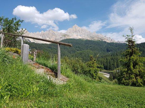 Obereggen, Italia: Vista dal prato antistante la piscina