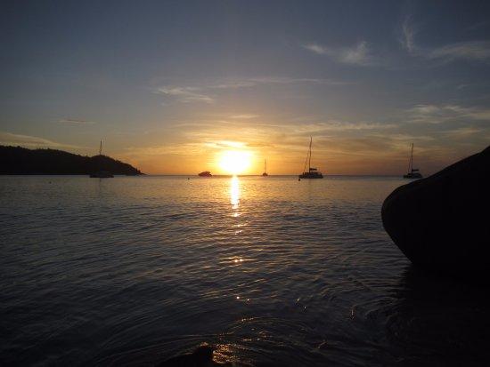 Νήσος Πράσλιν, Σεϋχέλλες: coucher de soleil