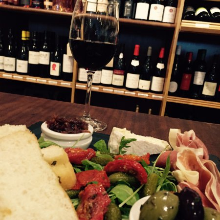 Alderley Edge, UK: We offer meat and cheese platters as well as a wide selection of wines by the glass.