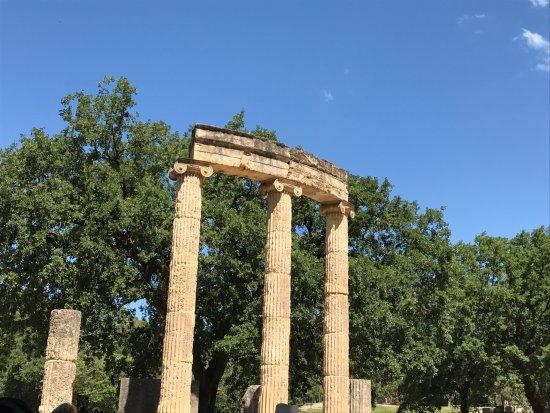 Museum of the Olympic Games: Un des multiples vestiges visibles sur le site