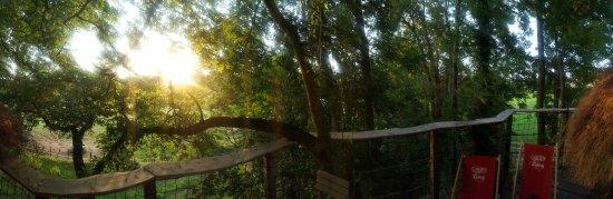 Les Cabanes de Viré: Sur la terrasse de la cabane