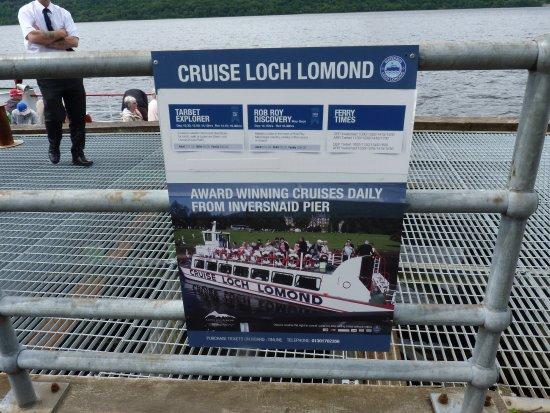 Inversnaid Hotel: cruise Loch Lomond