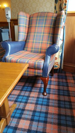 Inversnaid Hotel: very scottish designs everywhere
