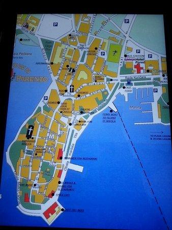 Map Of Porec Picture Of Hotel Parentium Plava Laguna Porec
