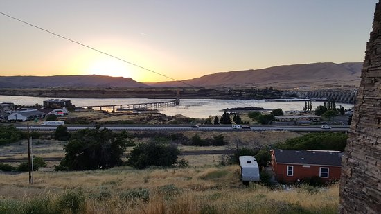 The Dalles, OR: View from the west side of hotel.