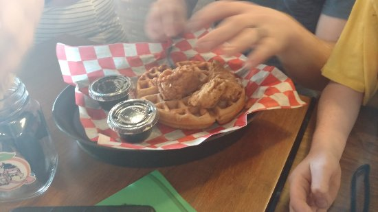 North Liberty, IA: Chicken and waffle $6
