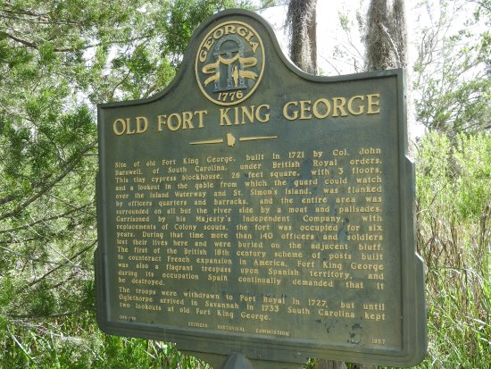 Darien, GA: A little about Fort King George