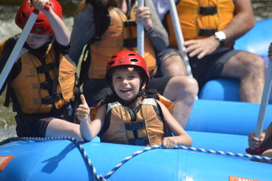 Charlemont, MA : Cutie having a great time in the front of the raft!
