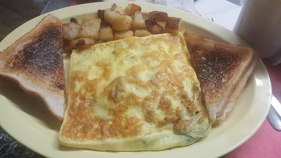 North Chelmsford, MA: Spinach and Feta Omelette