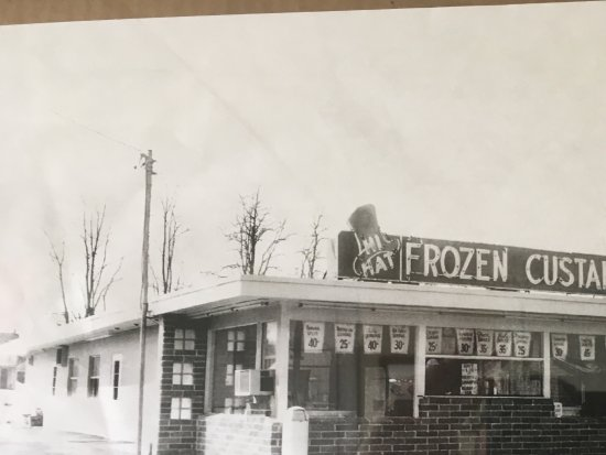 Mount Holly Springs, PA: Historic photo from the 50-60, on display inside.