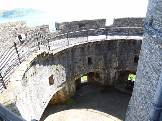 St Mawes, UK: View into tower