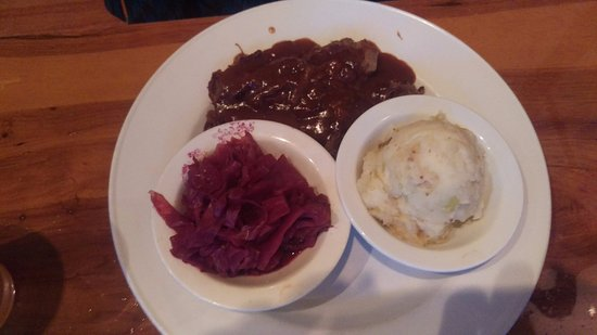 Moline, IL: sauerbraten? too vinegary for my boss