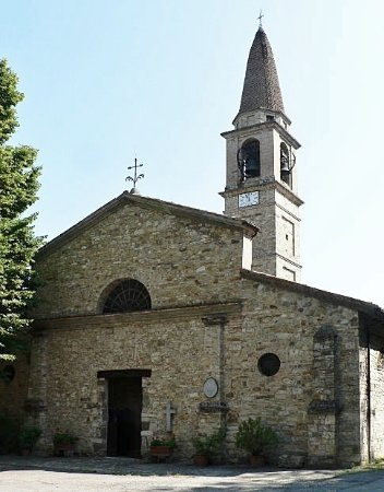 Lugagnano Val d'Arda, Olaszország: Vista frontale della chiesa